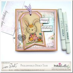 Designed by DT Lisa West using Bunita Shopping and from Belle Papillon Pink Cards, Spectrum Noir, Rubber Stamping, Digital Stamps, Copic, Happy Friday, Colouring, I Card, Lisa
