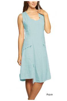 EMMA Linen dress from INZIO in lots of yummy colors!