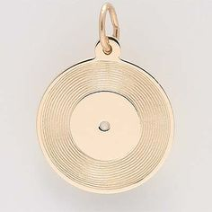Record Charm $30 http://www.charmnjewelry.com/gold-charms.htm #MusicCharm