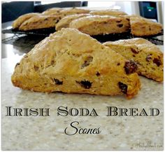 This recipe for Irish Soda Bread Scones is perfect for St. Patrick's Day! Such a wonderful breakfast treat, but also the perfect food to have on hand for an afternoon snack.