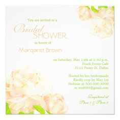 Discount DealsSpring Peach Peony Bridal Shower Invitationsyou will get best price offer lowest prices or diccount coupone