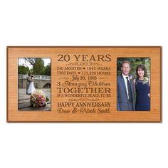 20th Wedding Anniversary Gifts on Pinterest 20 Wedding Anniversary ...