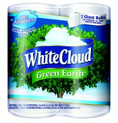 The only toilet paper I've tried that is made from recycled material without FEELING like it's made from recycled material. Unfortunately it's only sold at Wal-Mart. Green Earth, Your Family, Recycling, Environment, Bottle, Toilet Paper, Cloud, Money, Spring