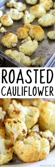 the kids loved this! big hit!!! ROASTED CAULIFLOWER #cauliflower #roasted #recipe #vegetarian