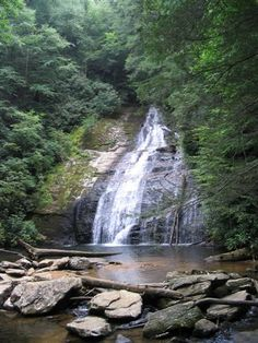 Beautiful Helton Creek Waterfall in Blairsville, Ga