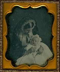 Interesting post mortem of both mother and baby, or possible just the mother. This is an unusual photo. Previous pinner states it is a momento mori, and it may be, but I've never seen one like it. Obviously the baby is not dead, but the skin on the mother's hands does appear to be sloughing as if she's wearing gloves.
