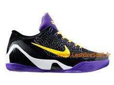 low priced b0b03 2c369 Officiel Nike Kobe IX Elite Low iD Chaussures Nike Pas Cher Pour Homme Noir  Violet. Nike Jordan Boutique