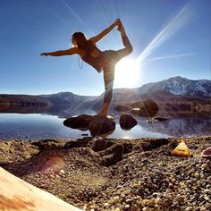 Yoga is one of Jamie Anderson's favorite ways to relax. Photo courtesy of Jamie Anderson.