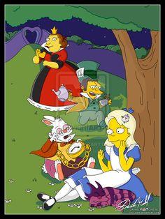 Alice in Wonderland by Simpsons