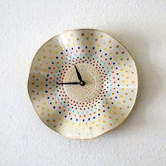 Shabby Chic Clock, Housewarming Gift, Decor and Housewares, Home Decor, Wall Clocks, Home and Living,  Eco Friendly Decor, Unique Gift