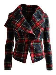 Tartan + generosity of cloth = signs it's Westwood