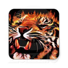 #Fire #Power #Tiger #Sticker!    http://www.zazzle.com/fire_power_tiger_sticker-217362162143687588