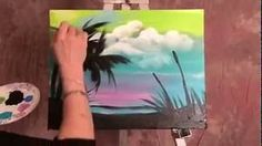 Background and Sillhouette Palms