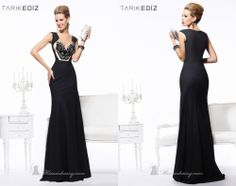 Embellished Fitted Gown by Tarik Ediz