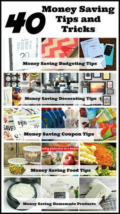 40 Simple Money Saving Tips and Tricks