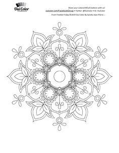 Adult Coloring Book Pages, Mandala Coloring Pages, Colouring Pages, Coloring Pages For Kids, Coloring Books, Paper Quilling Patterns, Mandala Drawing, Mandala Design, Mosaics