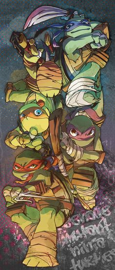 Nickelodeon's Teenage mutant ninja turtles by ~Changmin4