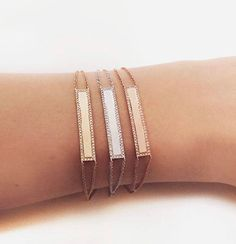 mcfinejewelryLove 'em! New ID bracelets! Engrave with a special date, meaningful word your name or a loved ones name. Layer them or wear alone. 14k rose, yellow or white gold. #terranearesort #palmilla #theoneandonly #ojaivalleyinn #montagelagunabeach #montagedeervalley #stowe #stowevermont #farsha