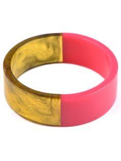 Adia Kibur Half & Half Resin Bangle Bracelet, Adia Kibur resin bangle, Adia Kibur bracelet
