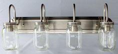 Mason Jar VANITY 5-Light New Quart Clear - Mason Jar Light Fixture - The Lamp Goods - 3