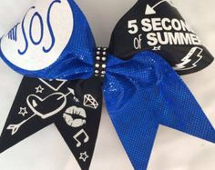 5 Seconds of Summer cheer bow