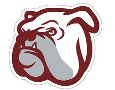 . Pegatina adhesiva de Vinilo Bulldog 1 01695 Mississippi State Bulldogs, Georgia Bulldogs, Bulldog Drawing, Vector Design, Graphic Design, Bulldog Mascot, University Logo, Baby Dogs, Doggies