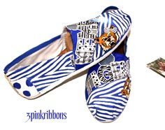 3pinkribbons: Memphis Tigers Custom Hand Painted Toms Shoes