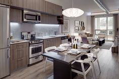 I love the modern simplicity of City Living, Home And Living, Life Space, Beautiful Interiors, Condo, Dining Room, Windows, Modern, Kitchen