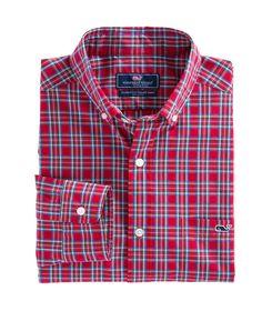Vineyard Vines Riverton Plaid Classic Tucker Shirt in Tomato Polo T Shirts, Sports Shirts, Blackpink Fashion, Summer Shirts, Menswear, Men Casual, Plaid, Mens Tops, How To Wear