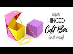 Origami Hinged Gift Box Tutorial - Small Cube Version - Paper Kawaii - YouTube