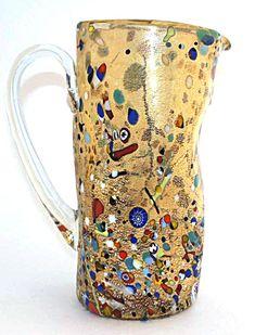 Кувшин FR108 Arlecchino/Арлеккино - высота 25см - Муранское стекло » Ювелирная бижутерия, посуда, сувениры, предметы интерьера, произведения искусства из Муранского стекла