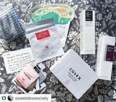 I'm so happy with my #cosrx haul that I want to hug @melodycosme! Fast shipment, pretty packaging, and a personal note. I also want to give myself a hug for picking such great products  hahaha  #Cosrx BHA Blackhead Power Liquid, Galactomyces 95 White Power  Essence (soon to be named Whitening Power Essence), Acne Pimple Master Patch, Cotton Puffs  #Ciracle Anti-aging Mask ... & lots of great samples! Thank you, @melodycosme!