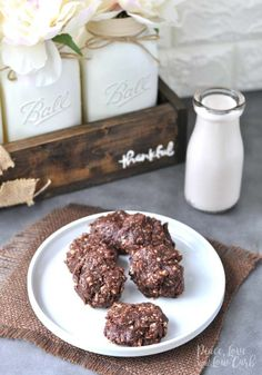 Chocolate Peanut Butter Keto No Bake Cookies   Peace Love and Low Carb