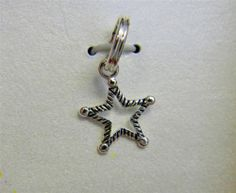 925 Sterling Silver Stylized Star Keepsake Hanging Charm