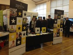 Sandra today, supporting the community in the Blue Toon!  Careers fair at Peterhead Academy