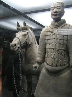 Dating from 210 BC, the Terracotta Army was discovered in 1974 by local farmers near the mausoleum of the First Qin Emperor.