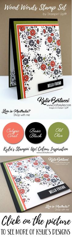 Kylie Bertucci, Stampin' Up! wood words, handmadecard #rubberstamps #stamping #kyliebertucci
