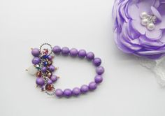 Hey, I found this really awesome Etsy listing at https://www.etsy.com/listing/272303552/purple-turquoise-bracelet-purple-howlite
