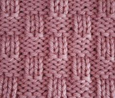 4x2 Basket Weave ... STITCHES: knit (right and wrong sides), purl (right and wrong sides), edge stitch ... PATTERN: 8 rows ... STITCH NUMBER: multiple of 6 + 6 + 2 edge stitches ... DIFFICULTY: easy