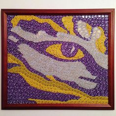 """Eye of the Tiger """"lsu"""" bottle caps"""