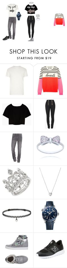 """tender couple"" by kata-723 on Polyvore featuring Belleza, River Island, Chinti and Parker, Max&Co., Balmain, True Religion, Links of London, BERRICLE, OMEGA y Guardiani Sport"