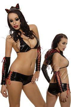 d5270d1cbbb Gothic Kitty 3pc Set  FCB1005  -  34.00   Clubwear