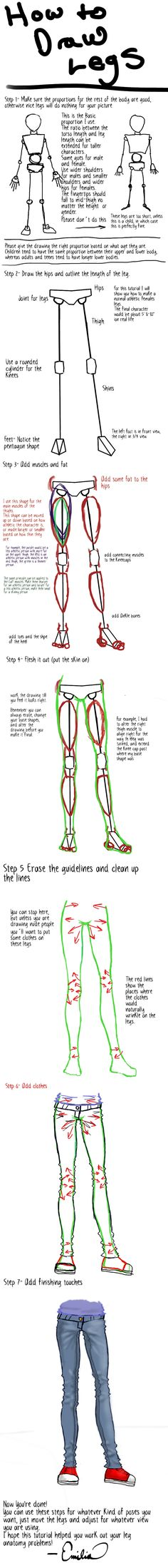 How to Draw Legs Tutorial by EmiliaArgon.deviantart.com on @deviantART