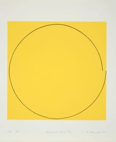 Imperfect Circle #2, 1973 Robert Mangold