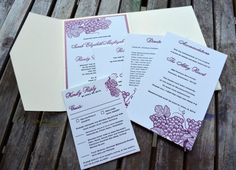 Wending Invitations: How to Work Purple into Your Wedding Like a Pro!   (Stationary: Lucky Invitations)