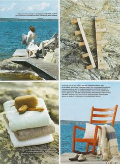 On the re rocking chair, bottom right: Loose Fit Urban style cushion covers from Bemz in Brera Fino Cloud by Designers Guild for Bemz featured in Swedish Lantliv nr10 2012.