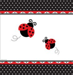 Ladybug Baby Shower Tablecloth ~Rosemary Company