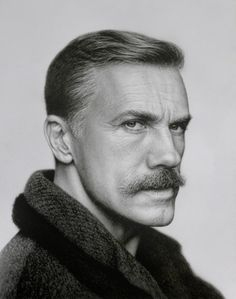 Cristoph Waltz - A pencil drawing of Cristoph Waltz. The portrait is so clearly drawn that you can barely guess it was drawn by pencil; timeless and flawless.