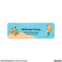 Sold this #cute #mermaid #fantasy #labels to NJ.  Thanks for you who purchased this. Check more at www.zazzle.com/celebrationideas/cute+mermaid