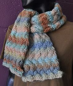 Woven Cable Scarf - Chunky Mochi - Crystal Palace Yarns